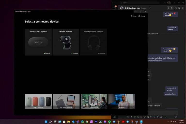 Microsoft modern accessories - software