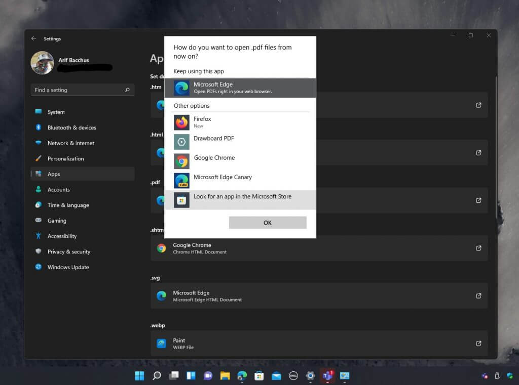 How to change the default web browser in windows 11 - onmsft. Com - august 18, 2021