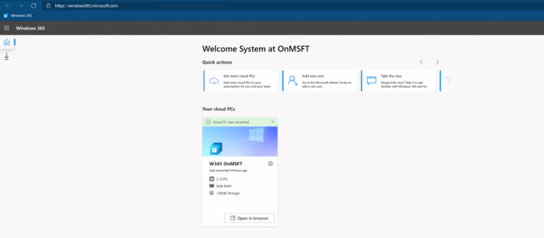Getting started with windows 365: account management and installation - onmsft. Com - august 3, 2021