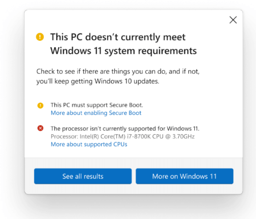 Microsoft updates windows 11 minimum specs, confirms upgrade will be possible on unsupported pcs - onmsft. Com - august 27, 2021