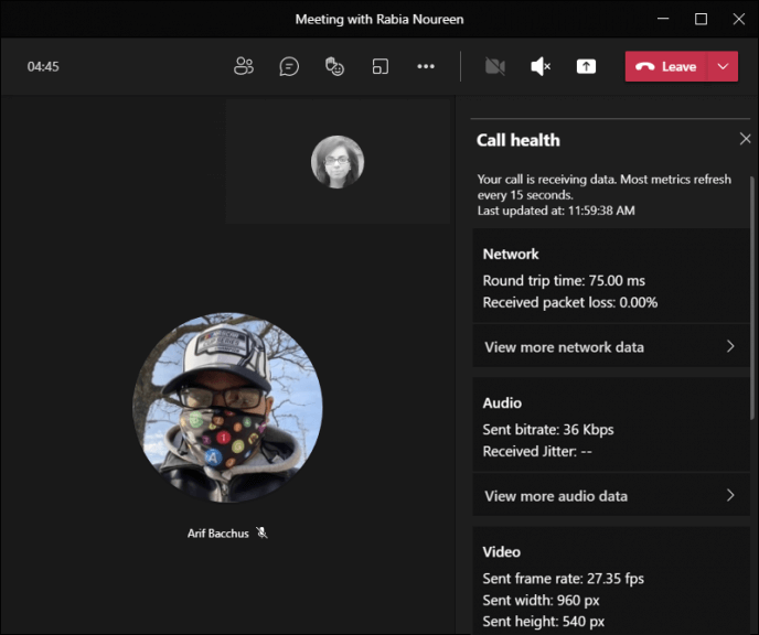 New call health panel in microsoft teams lets meeting participants troubleshoot connection issues - onmsft. Com - august 23, 2021