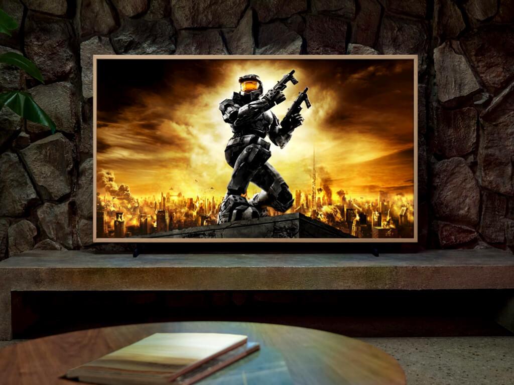 Samsung frame tv with halo artwork