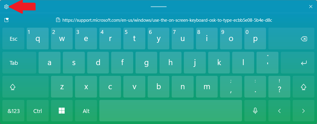 Touch keyboard