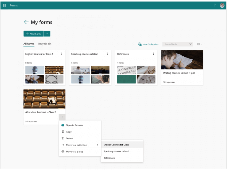 Microsoft forms is adding some much-needed organization features - onmsft. Com - september 7, 2021
