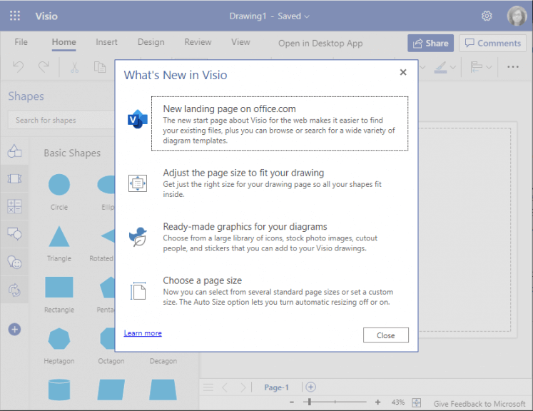 Lightweight visio web app starts rolling out to microsoft 365 business subscribers - onmsft. Com - september 28, 2021