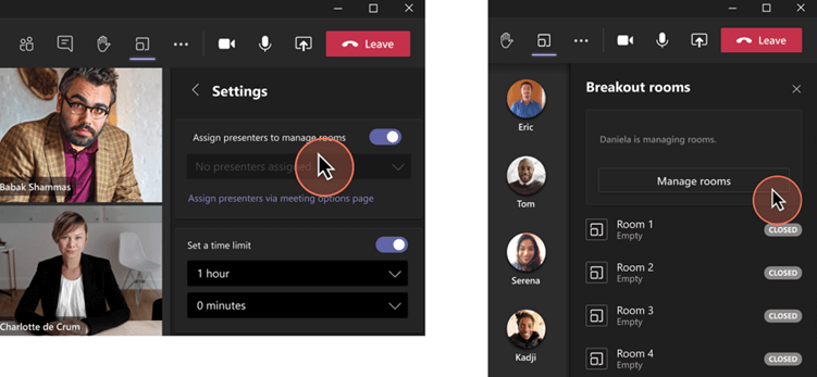 Microsoft teams public preview adds breakout rooms presenters support for meetings - onmsft. Com - september 23, 2021