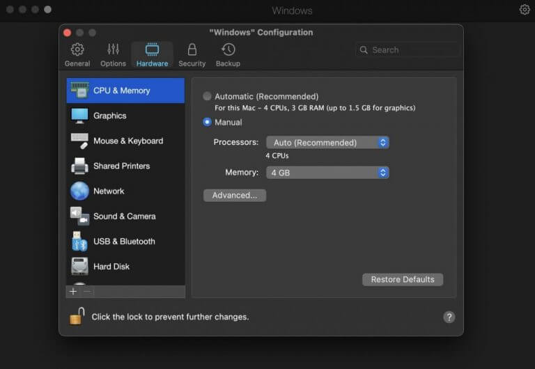 Tweaking the memory allocation in parallels