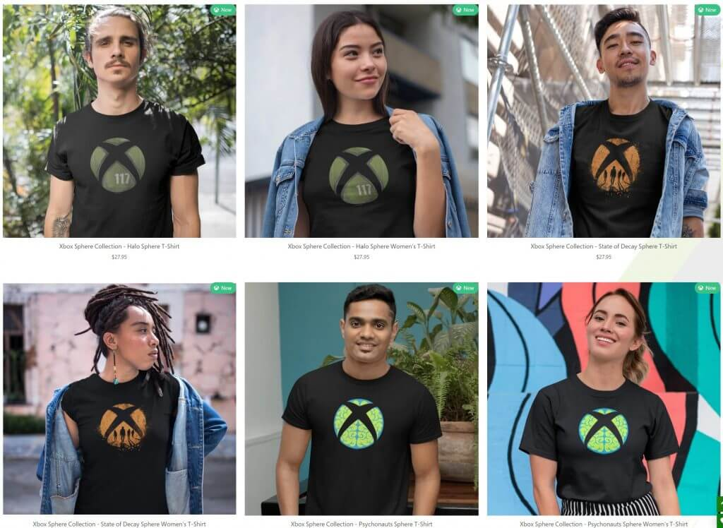Xbox gear shop's xbox sphere collection