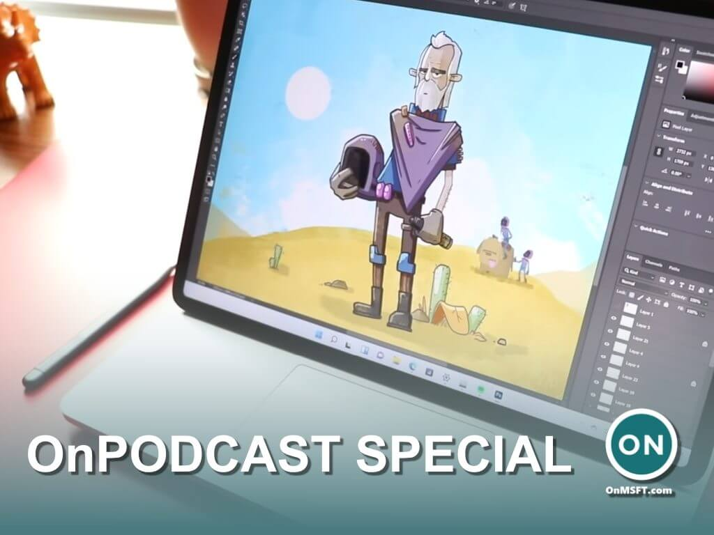 Tune in to onpodcast this sunday for a special surface-themed chat with artist and youtuber brad colbow - onmsft. Com - october 15, 2021