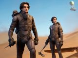 Dune's zendaya and timothee chalamet in fortnite video game on xbox one and xbox series x