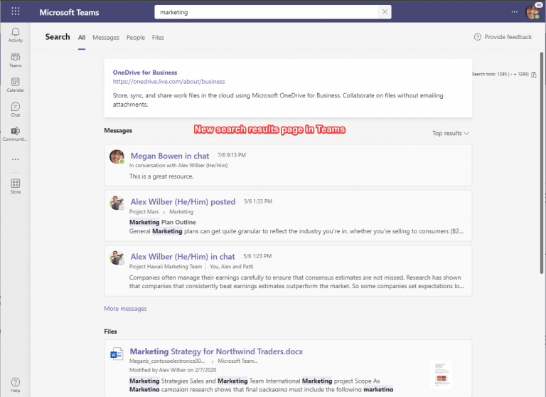 Microsoft teams to get faster and more relevant search results - onmsft. Com - october 6, 2021