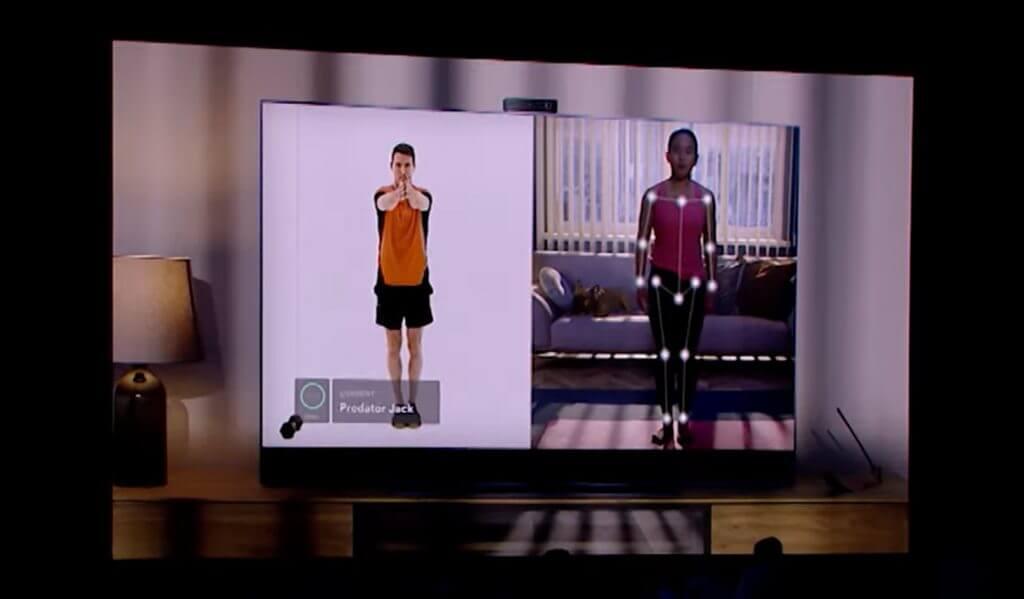 Sky glass tv with kinect-like smart camera and fitness app